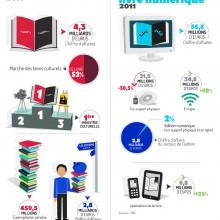 Le marché du livre/livre numérique